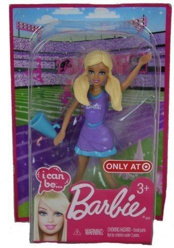 Barbie I Can Be A Cheerleader Mini Plastic Blonde Doll