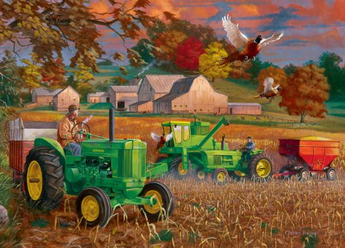 John Deer Bumper Crop Puzzle in Tin
