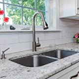 Nantucket Sinks NS5050 32-Inch Undermount Stainless Steel Double Bowl Kitchen Sink
