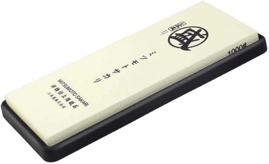 Gong 1000 3000 8000 10000 Grano Japon/és Piedra de afilar de Doble Cara para Cuchillos con Base de Goma y Madera Antideslizante Grande 1000