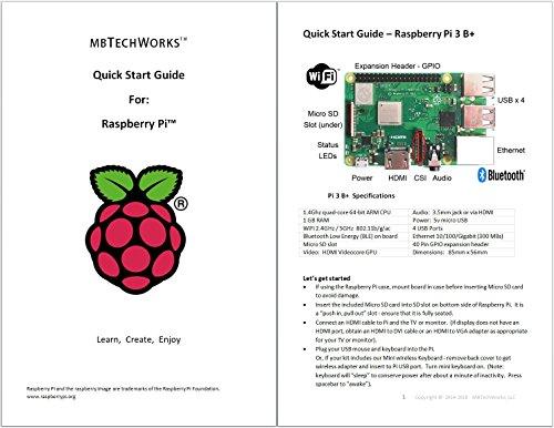 Raspberry Pi 3 B+ Kit - WiFi, Bluetooth, Raspbian, Wireless Keyboard, 16GB High-speed SD, 3A Power Supply, Clear Case by MBTechWorks (Image #7)