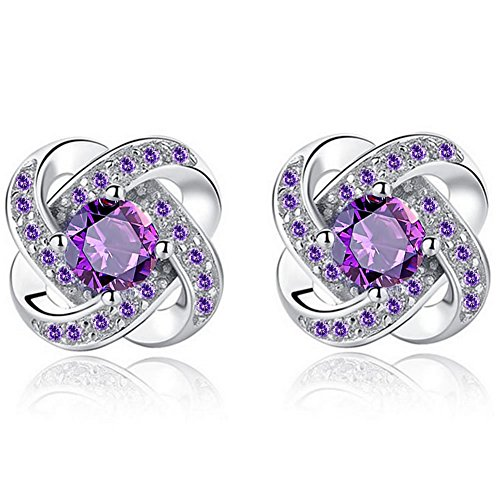 silver earrings 925 ladies _ women's earrings silver 925_ Cubic Zirconia Earrings_Huggie Earrings