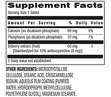 Botanic Choice Bilberry 60 mg, 60 Tablets Pack of 5