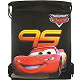 Disney Cars 10″ X 14″ Drawstring Backpack Heavy Duty Nylon Tote Bag Color (Blue, Red, or Black) (BLACK) Review