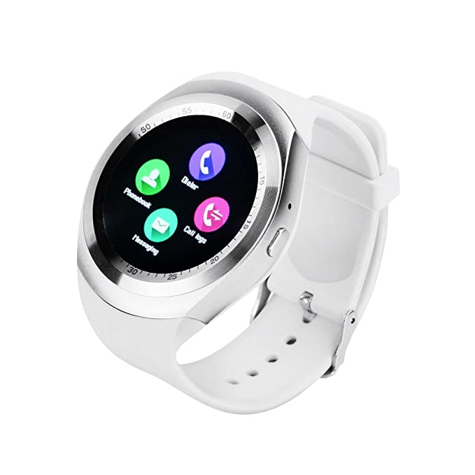 6a606f66887 Image Unavailable. Image not available for. Color  YUNTAB Y1 SmartWatch  Touch Screen Support SIM Card with Pedometer Sleep Mode