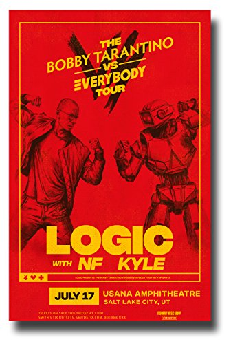 Logic Poster Concert Promo 11 x 17 inches Rapper Bobby Tarantino with NF and Kyle 2018 SLC ()