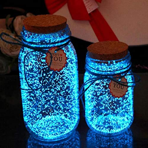 babnane Glow in The Dark Luminous Beautiful Fluorescent Sand Wishing Bottle Decoration Paintings -