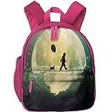Romantic and Beautiful Artistic Conception Cute Kids Backpack Outdoor Kindergarten Bookbag Economical School Travel Bag