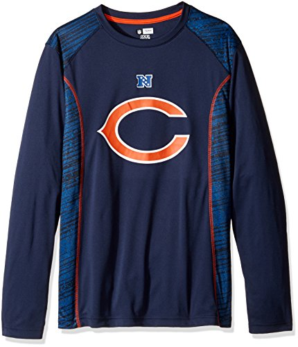 Free NFL Chicago Bears Men's Full Support Synthetic Shirt, Large, Bright Cardinal/Harvest Gold/White