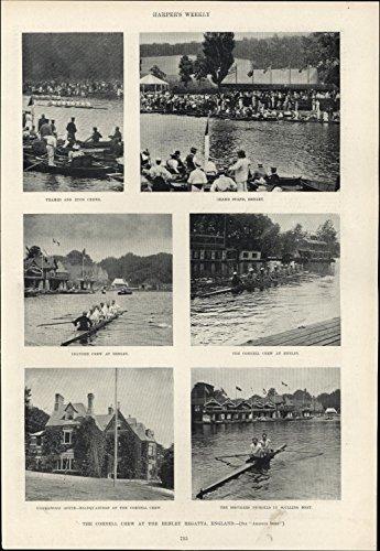 Regatta Henley (Cornell Crew Rowing Nickolls Sculling Leander Henley Regatta 1895 vintage print)