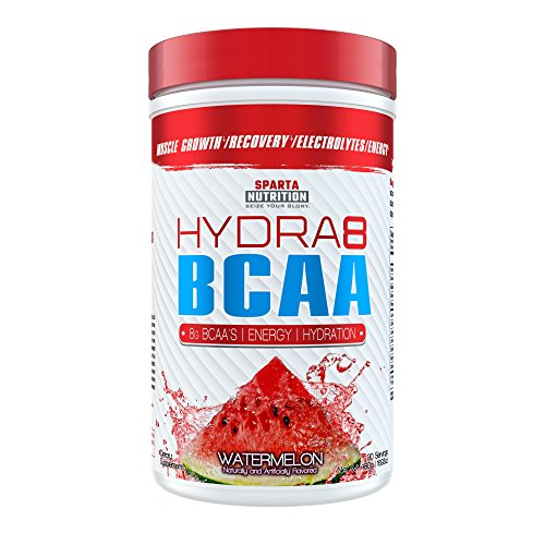 Sparta Nutrition HYDRA8 BCAA: Best Tasting BCAA Powder and Amino Energy Supplement, Intra-Workout/Post-Workout Drink, Increased Muscle Recovery/Endurance, Muscle Builder, Watermelon, 30 Servings