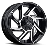 Vision 422 Prowler Gloss Black Machined Face Wheel with Machined Finish (20x9''/8x165.1mm)