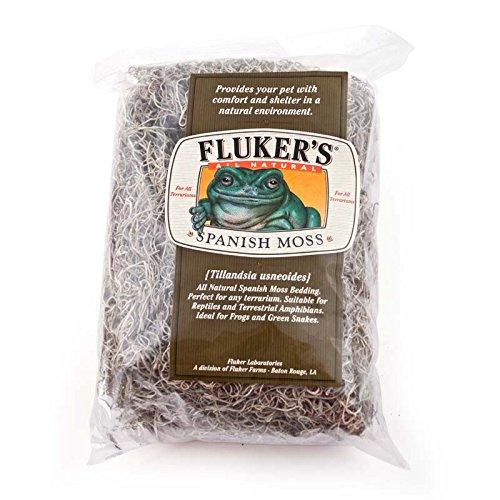 Fluker Labs SFK36020 Spanish Moss Small Animal Bedding, Large