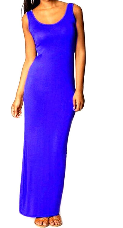 ASL Womens Elegant Cotton Bodycon Club Tank Top Dress