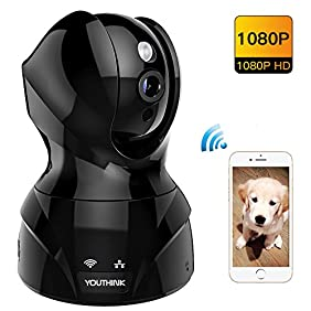 1080P Wireless Security Camera,Indoor Home Surveillance WiFi IP Camera with Two Way Audio,Motion Detection,IR Night Vision for Pet Nanny Baby Monitor (Pan Tilt Zoom,iPhone Android APP,Black)