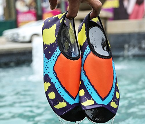 Vecjunia Womens Contrast Kleur Barefoot Strand Zwemmen Surf Yoga Water Schoenen Oranje