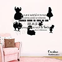 CreativeWallDecals Vinyl Wall Decal Sticker Alice in Wonderland Kids Nursery Characters r1874