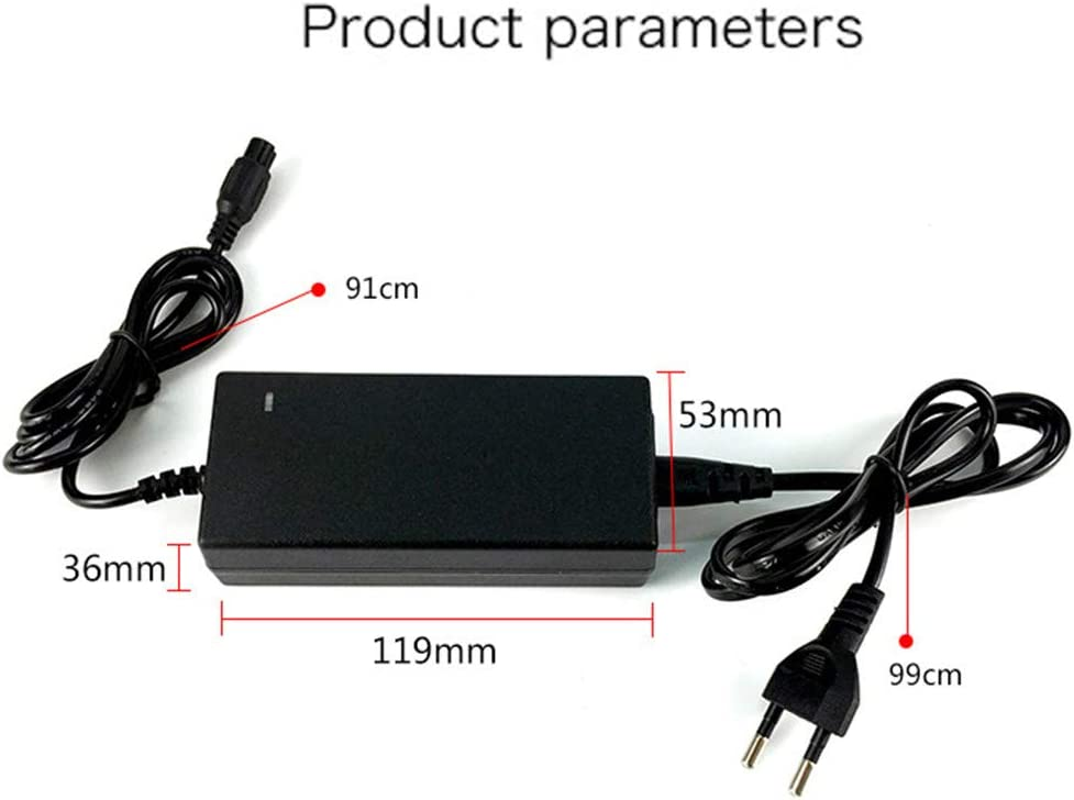 SHDT Mobility Scooter Battery Charger,42V 2A Quality Mobility Scooter Wheelchair Battery Charger,Bike Power Adapters Female 3-Pin Connector