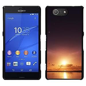 Sun & Sea - Metal de aluminio y de plástico duro Caja del teléfono - Negro - Sony Xperia Z4v / Sony Xperia Z4 / E6508