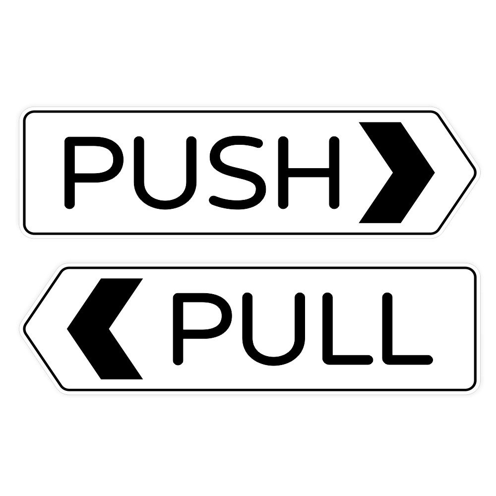 Amazon com designer push pull door sign white small office products