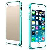 Tenworld iphone SE Case Bumper Frame ! ! ! Luxury Slim Metal Bumper Frame Cover (Green)