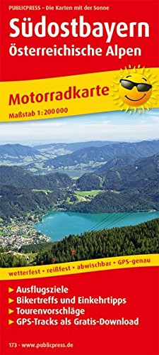 Südostbayern   Österreichische Alpen  Motorradkarte Mit Tourenvorschlägen Ausflugszielen Einkehr  And Freizeittipps Reissfest Wetterfest Abwischbar GPS Genau. 1 200000  Motorradkarte   MK
