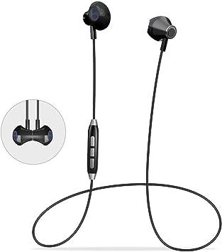 Auriculares Bluetooth Magnéticos Deportivos, Audífonos Estéreo Casco Bluetooth 4.1 con Micrófono, Cancelación Avanzada de Ruido, Auriculares Inalámbricos para Samsung LG Xiaomi Huawei: Amazon.es: Electrónica