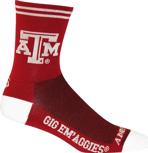 Adrenaline Promotions NCAA Texas A&M Aggies Cycling/Running Socks, Maroon, Large/X-Large
