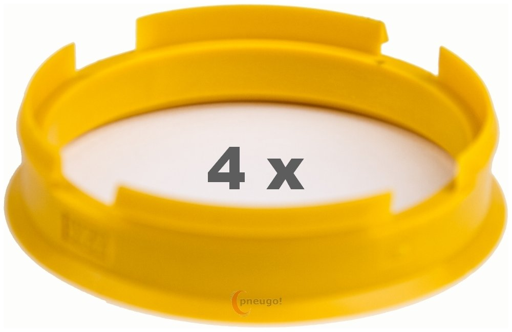 4/x Anillo Central 72.6/mm a 65.1/mm Amarillo//Yellow