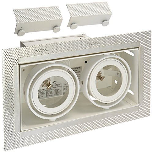 Eurofase Lighting Trim - Eurofase TE212 2-Light MR16 Trimless Multiple Recessed Light Fixture, White
