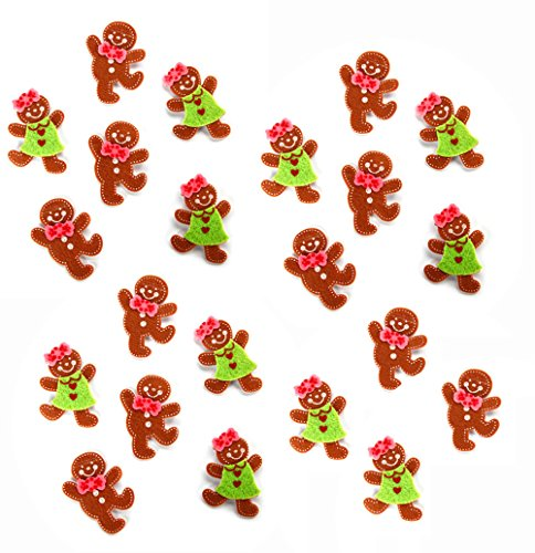 Felties Layered Gingerbread Stickers - 22 Pieces per pack]()