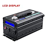 Premium 2000 Watts (Peak 4000 Watts) Power Inverter with Digital Display ,DC 12v to AC 110v Power Converter for Camping/RV/Truck , 2 AC Sockets with Ultra Silent Cooling Fans and Top Handle
