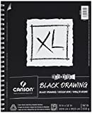 drawing paper for pastels - Canson XL Series Black Drawing Paper for Pencil, Acrylic Marker, Opaque Inks, Gouache and Pastels, Side Wire, 92 Pound, 9 x 12 Inch, Black, 40 Sheets
