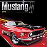Mustang 2018 12 x 12 Inch Monthly Square Wall Calendar with Foil Stamped Cover, Ford Motor Muscle Car (Multilingual Edition)