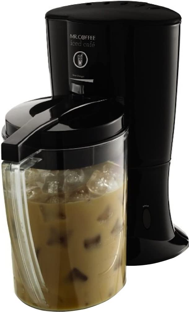 Black NEW Coffee Iced Coffee Maker with Reusable Tumbler and Coffee Filter Mr