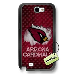 NFL Arizona Cardinals Team Logo Samsung Galaxy Note 2 Black Rubber(TPU) Soft Case Cover - Black