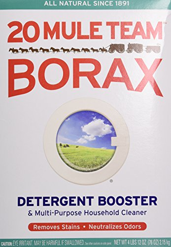 Borateem Color Safe - Borax 20 Mule Team Detergent Booster, 76 Oz.