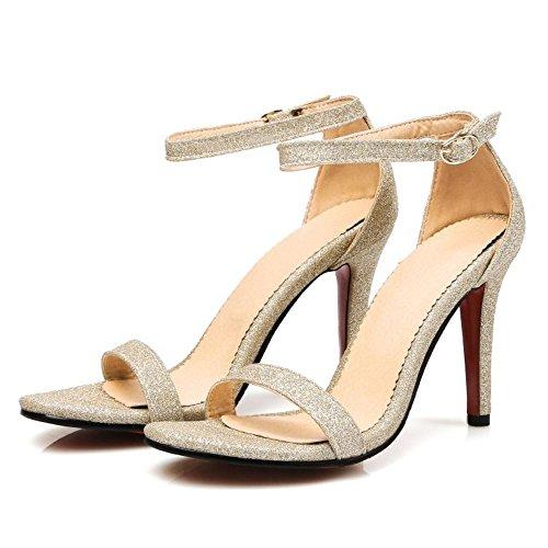 Zanpa Donna Alla Caviglia Sandali Strap 2 Mode Gold a6FwaqTSn