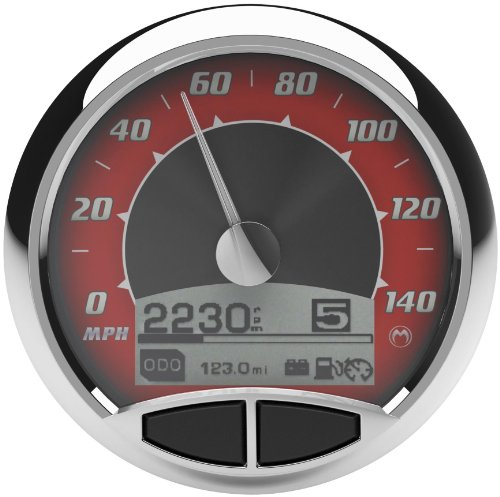 (Medallion Premium (5 in.) Console Red Tradition Gauges for 1999-03 FLST, FLHR w - One Size)