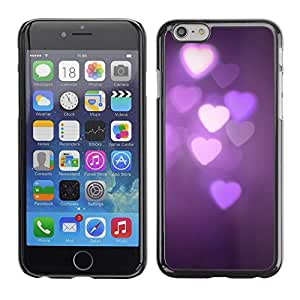 Cubierta de la caja de protección la piel dura para el Apple iPhone 6 (4.7) - purple lights night dark violet