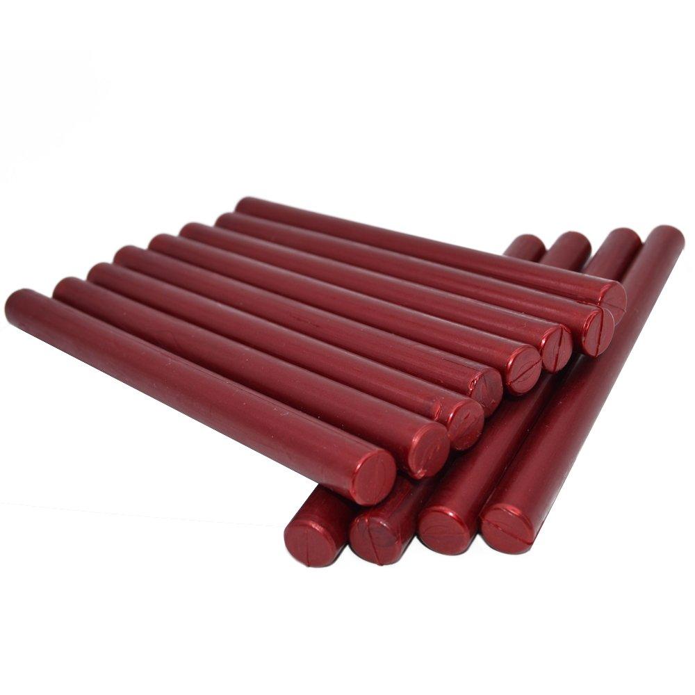 Sealing Wax Rod Blood Red for Glue Gun - 5.4''(L) - 12 Sticks