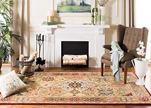 Safavieh Persian Legend Collection PL812A Handmade Traditional Red and Rust Wool Area Rug 9 6 x 13 6