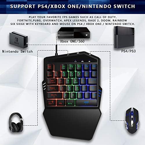 DarkWalker FO217 Combo Teclado y Ratón para Switch, Xbox One, PS4, PS3, Xbox 360 e Windows PC