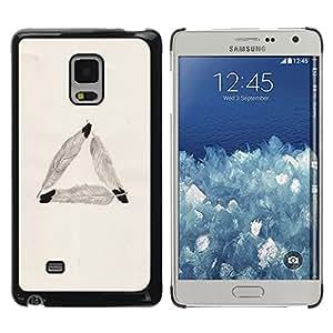 rígido protector delgado Shell Prima Delgada Casa Carcasa Funda Case Bandera Cover Armor para Samsung Galaxy Mega 5.8 9150 9152 -Feather Triangle Meaning Symbolism Beige-
