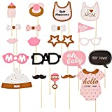 Hoomall Photo Booth Props DIY Kit for Wedding Birthday Party DIY Photo Booth Fun Accessories(20 Pcs for Girls)