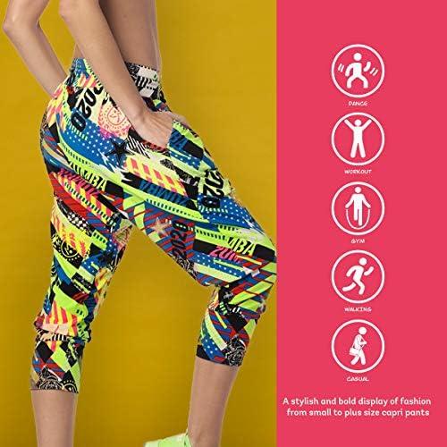 Zumba Capri Pantalon Harem de Entrenamiento Fitness Mallas de Deporte de Mujer 7