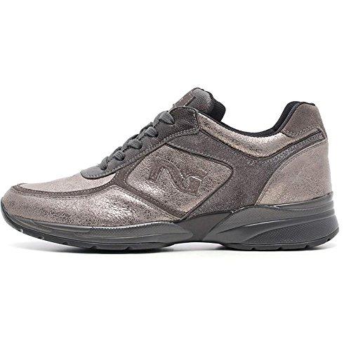 Sneaker mujer de ante gris a616031d-101–Negro Jardines