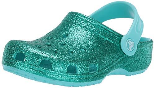 Crocs Kids' Classic Glitter Clog, Pool, 3 M US Little - Pack 3 Glitter