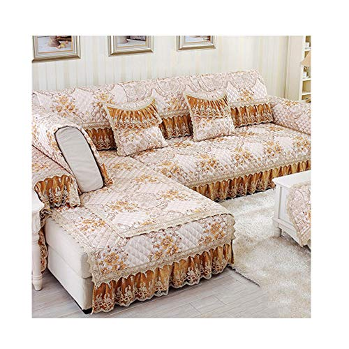 ZFADDS Floral Sofa Covers for Sectional Sofa Cover Universal Sofa Cover L-Shape Slipcovers Couch Sofa Furniture,D,70X150Cm ()