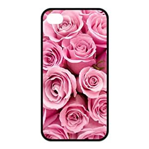 Pink Rose Pattern - TPU Cover Case For Iphone 4/4S